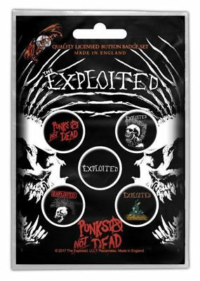 Exploited, The - 5 x 2.5cm Button Set - Punks Not Dead