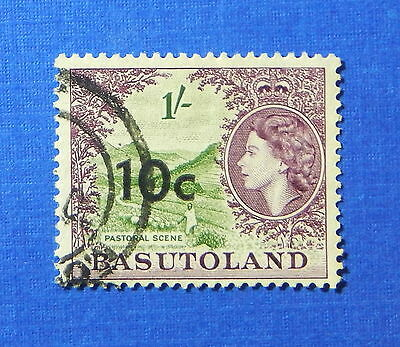 1961 BASUTOLAND 10c SCOTT# 67 S.G.# 64 USED                              CS20227
