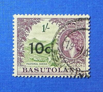 1961 BASUTOLAND 10c SCOTT# 67 S.G.# 64 USED                              CS20226