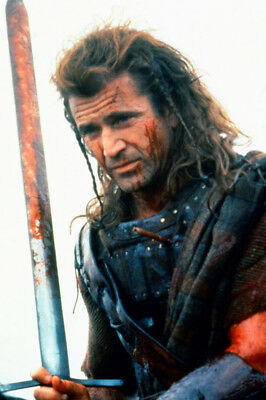 Mel Gibson As William Wallace In Braveheart On Horse With Spear 24X36 Poster