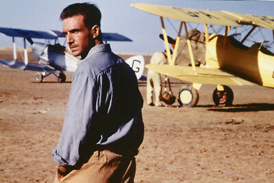 Ralph Fiennesalm?sy In The English Patient In Desert With Planes 24X36 Poster
