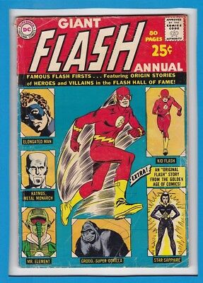 Giant Flash Annual #1_1963_Good/very Good_Elongated Man_Silver Age Dc Giant!
