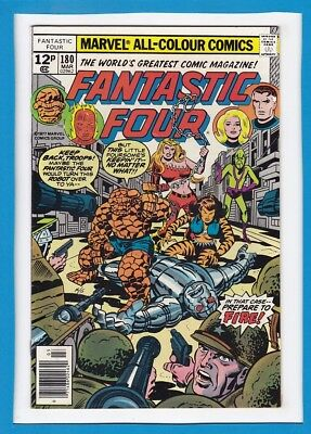 "Fantastic Four #180_March 1977_Very Fine_""bedlam In The Baxter Building""_Uk!"