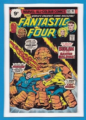 "Fantastic Four #169_April 1976_Very Good+_""bedlam In The Baxter Building""_Uk!"