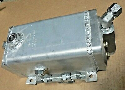 "Hydraulic Oil Aluminum Tank 12349954 11.25"" X 7.5"" X 5""  Probably 1/2 Gallon Or"