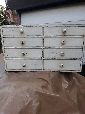Antique Victorian Pine Mahogany Small Chest Of Drawers Specimen