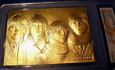 THE BEATLES Gold Card For Sale Album Cover Contains 0.5g of Pure Solid 24Kt Gold