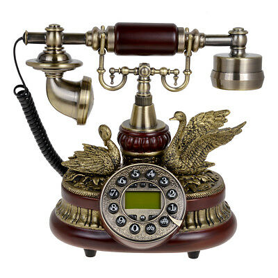 Kmise 159A Ceramic Retro Vintage Antique Style Push Button Dial Desk Telephone