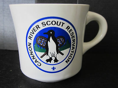 Vtg BSA Boy Scouts Of America Cannon River Scout Reservation Stoneware Mug USA