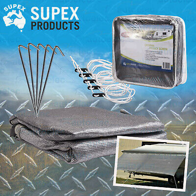 SUPEX CARAVAN SUN SHADE COVER PRIVACY SCREEN 4.0m x 1.8m FOR 14' ROLL OUT AWNING