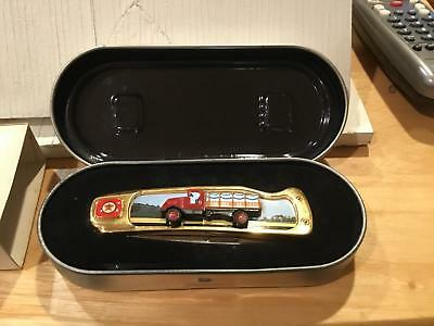 Preowned Ertl Collectible Pocket Knife Texaco Stake Body with Case and sleeve