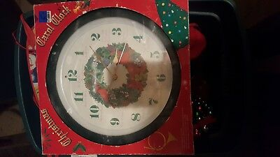 Musical Christmas Carol Wall Clock Battery Operated Plays A Song Every Hour 13 25 00 Picclick