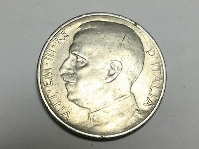 ITALY 1921 reeded edge 50 Centesimi coin very nice condition, small rev rim nks