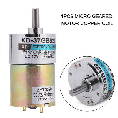 XD-37GB520 DC12V 10W 30RPM/600RPM CW/CCW Brushed Geared Motor gbd