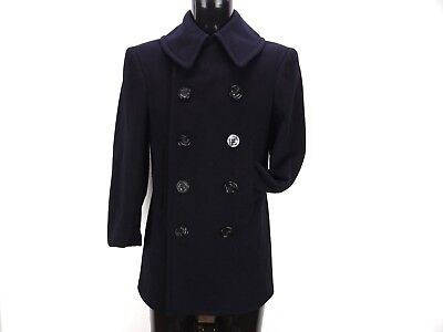 """Vtg Us Navy Wwii Peacoat """"naval Clothing Factory"""" 1940's Mens Small"""