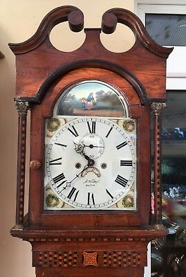 Antique Longcase Grandfather Clock 8 Day C1790