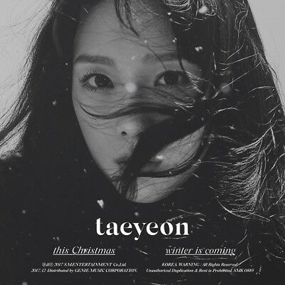 TAEYEON - This Christmas - Winter is Coming +Folded Poster+Tracking no+Free Gift