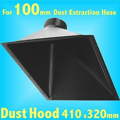 Deep Dust Extraction Hood 100mm  Hose Charnwood SIP Record extractor Big Mouth