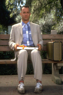 Forrest Gump Tom Hanks On Bench With Box Of Chocolates 24X36 Poster Print