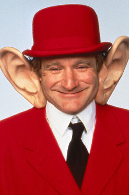 Toys Robin Williams Smiling In Red Suit And Bowler Hat Huge Ears! 24X36 Poster