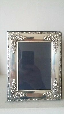 "Beautifully Designed  Carrs Hallmarked Silver Photo Frame  7"" X 5.5"""
