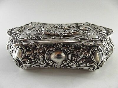 Antique Silver Jewellery Box Birmingham 1906 Ref 307/2