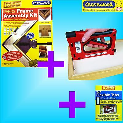 Charnwood Picture Frame Making Assembly Kit + Tab Driver Gun + Flexible Tabs