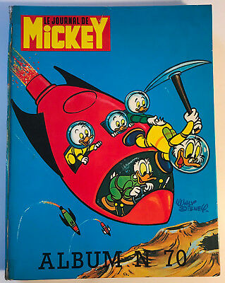 ALBUM LE JOURNAL DE MICKEY n°70 ¤ avec n°1246 à 1255 ter ¤ 1976 DISNEY