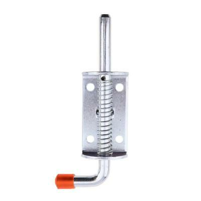 Home Spring Loaded Metal Door Security Barrel Bolt Latch 145mm Silver+Red