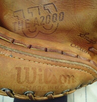 "1967 one year style Wilson A2000 USA top line baseball glove RH 11"" w/patch"