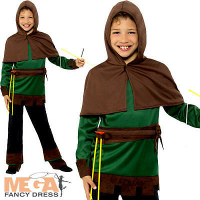Robin Hood Boys Fancy Dress Fairy Tale World Book Day Childrens Kids Costume New
