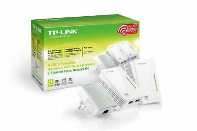 Tp-link AV500 Powerline Universal Wireless Range Extender Network Kit 3-Pack Plu