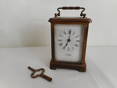 Antique Mappin & Webb Brass Carriage Clock - French Movement - For Restoration