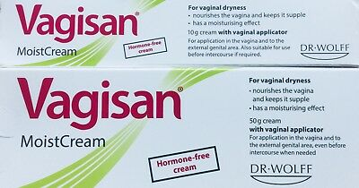 Vagisan MoistCream 50g +10g (60g)For Vaginal Dryness, Hormone