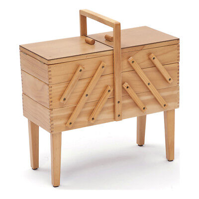 NEW   HobbyGift GB8550   Light Wood Cantilever 3 Tier with Legs   FREE SHIPPING