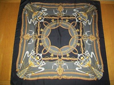Beautiful Top Quality Equestrian Design Vintage Silk Scarf. Mint Condition