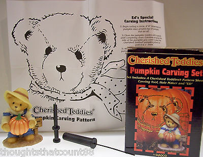 Cherished Teddies ED PUMPKIN CARVING KIT 466220 Show Ex * FREE USA SHIPPING