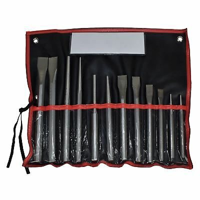 Heavy Duty Industrial Steel Cold Chisel Pin Punch Centre Punch Set 12pc
