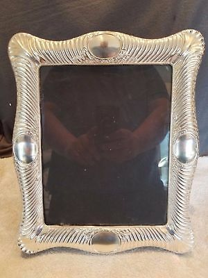 "STUNNING AND BEAUTIFUL QUALITY HUGE 13"" x 11"" STERLING SILVER PHOTO FRAME"