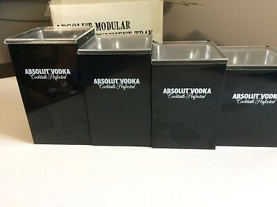 New Absolut Vodka Magnetic Garnish Condiment Trays 4 Piece
