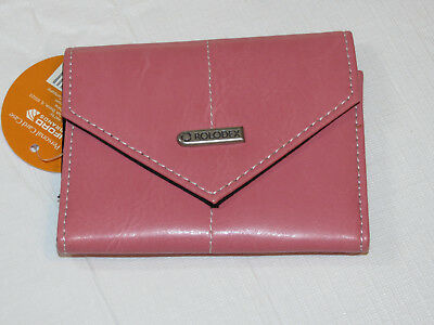 Rolodex Pink Ribbon Business Card Case 36-Card 1734451 **Missing transparent slv