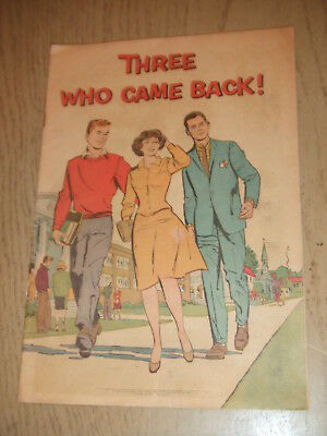 RARE 1963 USDHEW Three Who Came Back Social Security Office Comic Book SS USA