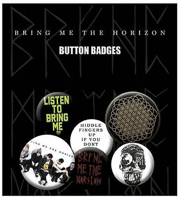 Bring Me The Horizon Sempiternal New Official Badge Pack (4x 25mm & 2x 32mm)