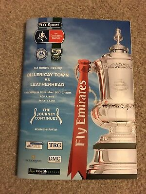 Billericay Town v Leatherhead 2017/18 - FA Cup 1st Round Replay - 16th Nov. 2017