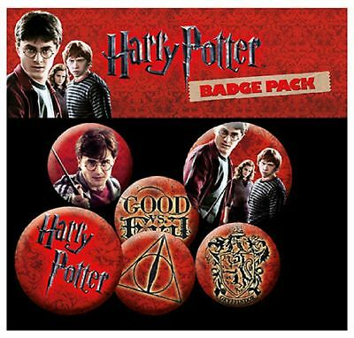 Harry Potter Icon Pack New Official Badge Pack (4x 25mm & 2x 32mm) One Size