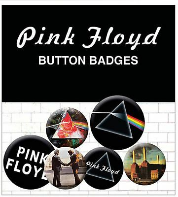 Pink Floyd Albums and Logos Animals New Official Badge Pack (4x 25mm & 2x 32mm)