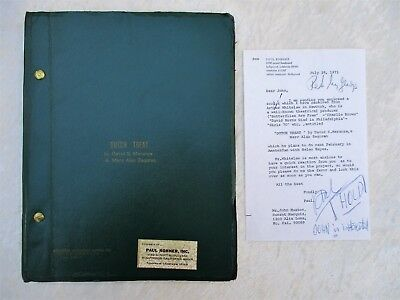 1971 UNPRODUCED SCREENPLAY w/ PAUL KOHNER Letter to JOHN HUSTON Laid In