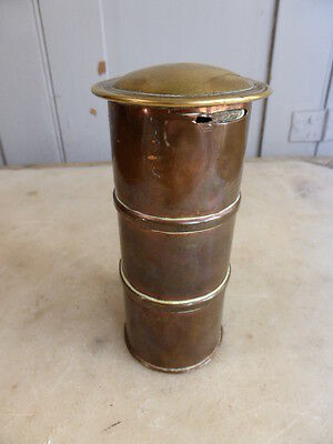 Antique copper and brass money box