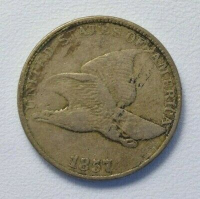 1857 Flying Eagle Penny Cent F Fine