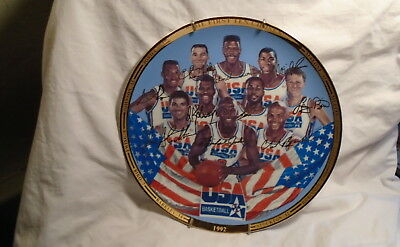 1992 Usa Basketball Dream Team Plate 1St Ten Chosen The Very Last One Made!